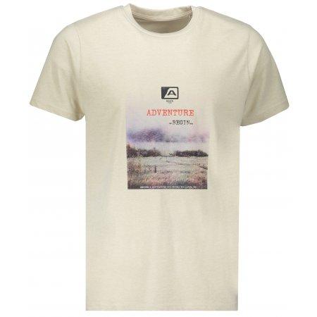 Pánské tričko s krátkým rukávem ALPINE PRO TIBERIO 7 MTSN364 BÉŽOVÁ