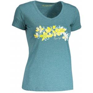 Dámské tričko s krátkým rukávem ALPINE PRO LAILA 3 LTSN419 ZELENÁ