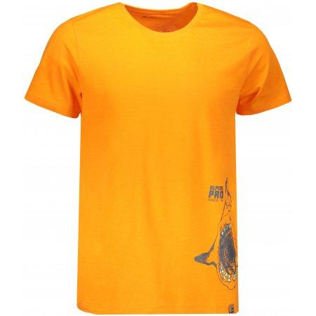 Pánské tričko s krátkým rukávem ALPINE PRO ROMOR MTSN373 ORANŽOVÁ