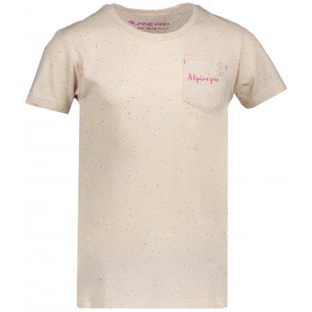 Dětské tričko s krátkým rukávem ALPINE PRO GANGO KTSN160 BÉŽOVÁ