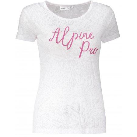 Dámské triko s krátkým rukávem ALPINE PRO KAJKA LTSN520 BÍLÁ