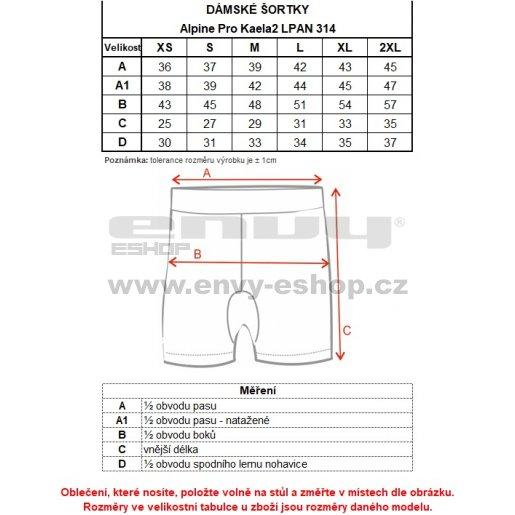 Dámské šortky ALPINE PRO KAELA 2 LPAN314 FIALOVÁ