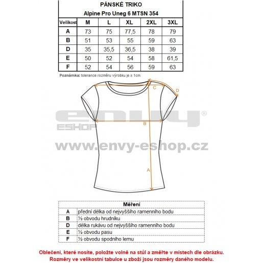 Pánské tričko s krátkým rukávem ALPINE PRO UNEG 6 MTSN354 SVĚTLE ŠEDÁ