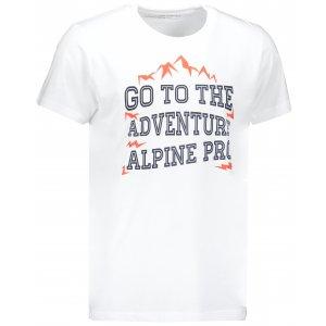 Pánské triko s krátkým rukávem ALPINE PRO TORX MTSN443 BÍLÁ
