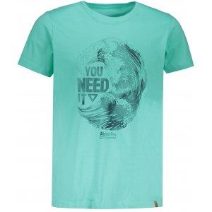 Pánské tričko s krátkým rukávem ALPINE PRO ROMOR MTSN373 ZELENÁ