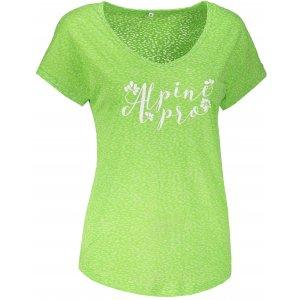Dámské tričko s krátkým rukávem ALPINE PRO HARISA 2 LTSN420 ZELENÁ