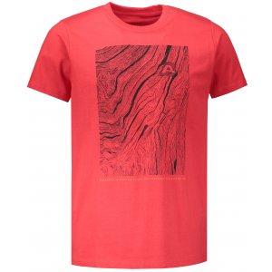 Pánské tričko s krátkým rukávem ALPINE PRO UNEG 6 MTSN354 ČERVENÁ
