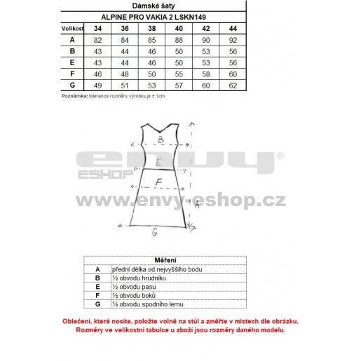 Dámské sportovní šaty ALPINE PRO VAKIA 2 LSKN149 ZELENÁ