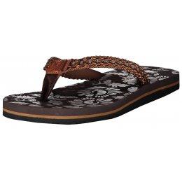 Dámské pantofle ALPINE PRO JARA LBTN209 HNĚDÁ