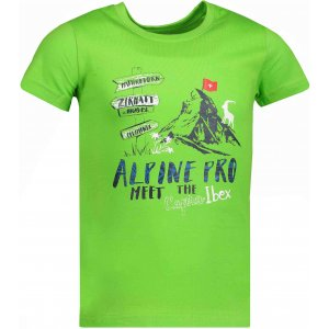 Dětské tričko s krátkým rukávem ALPINE PRO MATTERO KTSN185 ZELENÁ