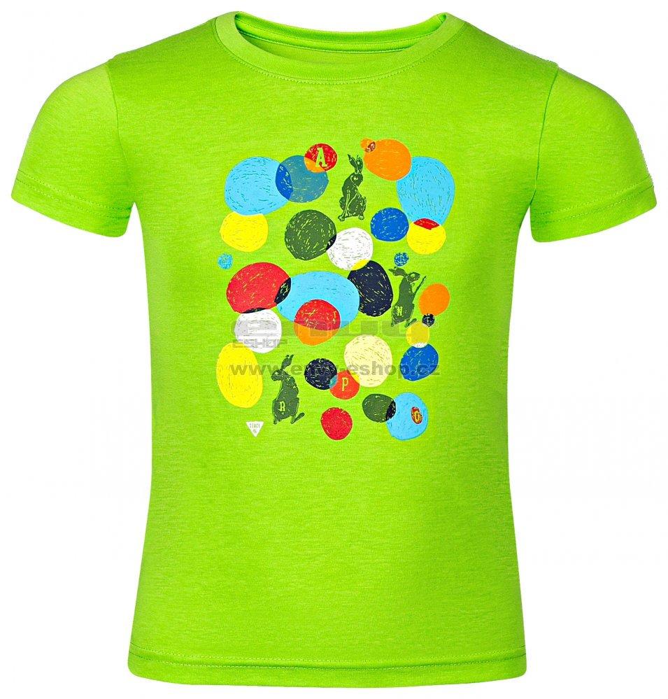 c87d6147ab38 Dětské tričko s krátkým rukávem ALPINE PRO AXISO 3 KTSN154 ZELENÁ velikost   128-134   ENVY-ESHOP.cz