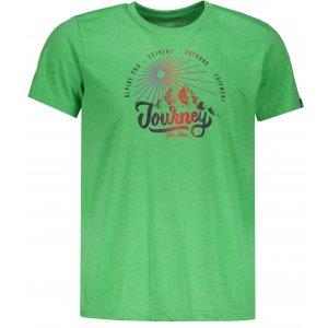 Pánské triko s krátkým rukávem ALPINE PRO DOD MTSN416 ZELENÁ