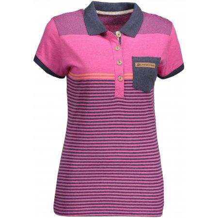 Dámské triko s límečkem ALPINE PRO HEIKA 2 LTSN424 RŮŽOVÁ