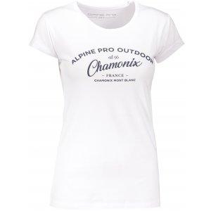 Dámské triko s krátkým rukávem ALPINE PRO HERTA LTSN565 BÍLÁ