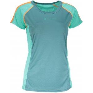 Dámské funkční tričko s krátkým rukávem ALPINE PRO CORTESE 3 LTSN414 ZELENÁ