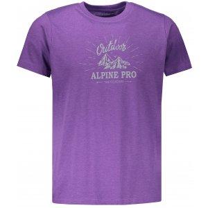 Pánské tričko s krátkým rukávem ALPINE PRO MARV 2 MTSN353 FIALOVÁ