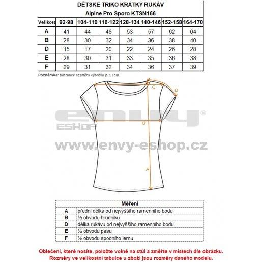 Dětské tričko s krátkým rukávem ALPINE PRO SPORO KTSN166 BÍLÁ