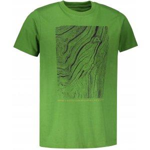 Pánské tričko s krátkým rukávem ALPINE PRO UNEG 6 MTSN354 TMAVĚ ZELENÁ