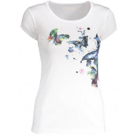 Dámské tričko s krátkým rukávem ALPINE PRO QUARTO 4 LTSN417 BÍLOMODRÁ