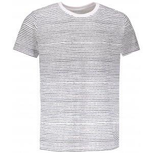 Pánské triko s krátkým rukávem ALPINE PRO ANDRES MTSN444 BÍLÁ PRUHY
