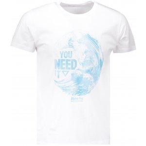 Pánské tričko s krátkým rukávem ALPINE PRO ROMOR MTSN373 BÍLÁ