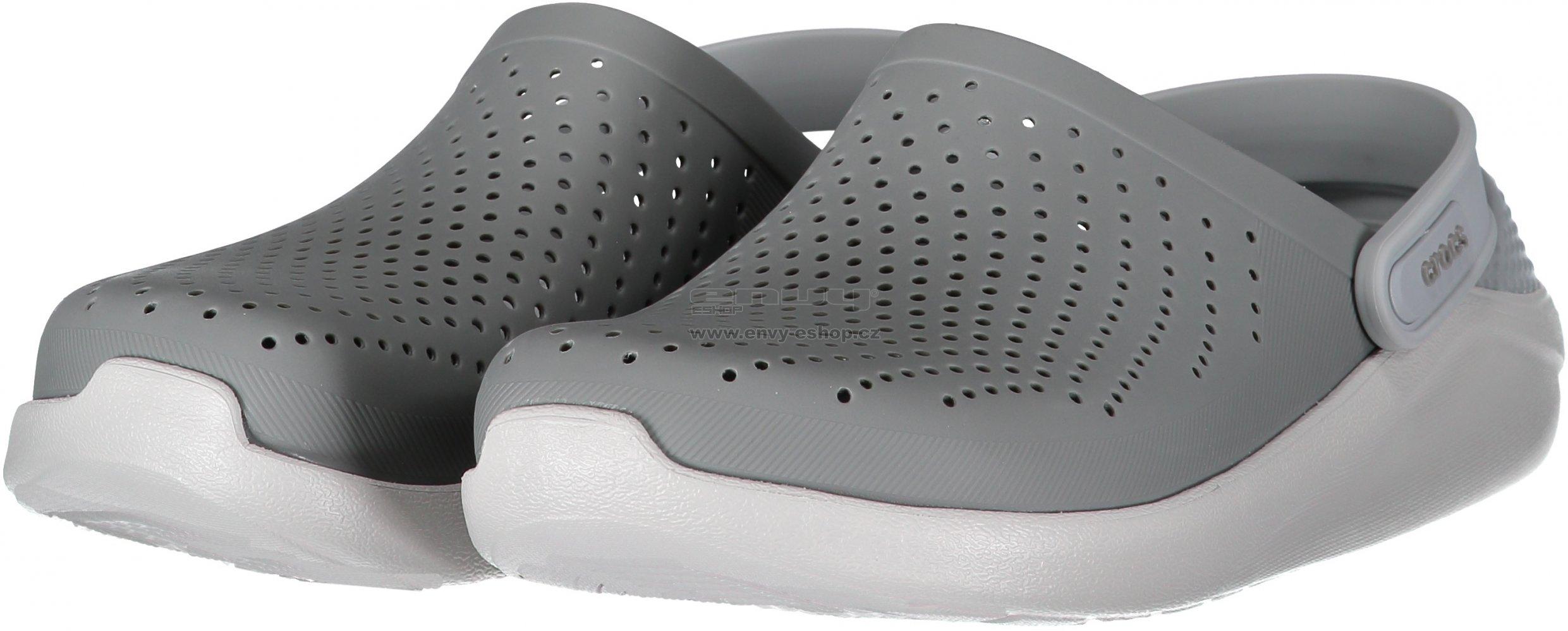 fb8453000376 Pánské pantofle CROCS LITERIDE CLOG 204592-06J SMOKE PEARL WHITE ...