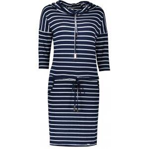Dámské šaty NUMOCO A44-16 MODRÉ PRUHY