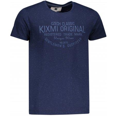Pánské triko KIXMI ITAMAR TMAVĚ MODRÝ MELÍR