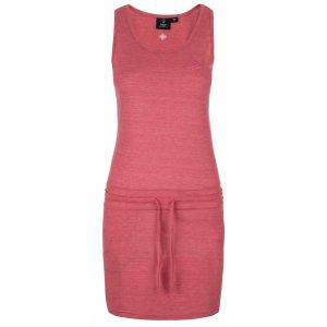Dámské šaty KILPI MAZAMBT-W KL0218KI RŮŽOVÁ