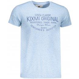 Pánské triko KIXMI ITAMAR SVĚTLE MODRÝ MELÍR