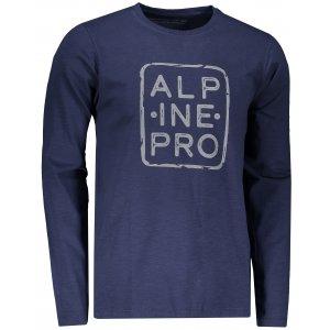 Pánské triko ALPINE PRO BRIGER MTSP517 TMAVĚ MODRÁ
