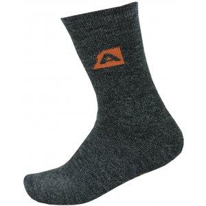 Ponožky ALPINE PRO OTHAR USCP058 TMAVĚ ŠEDÝ MELÍR/ORANŽOVÁ