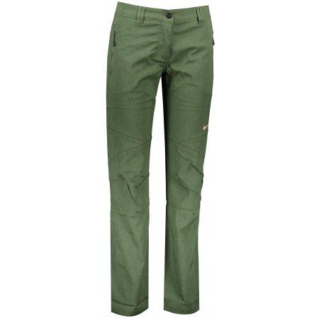 Dámské softshellové kalhoty ALPINE PRO MURIA 4 LPAP341 TMAVĚ ZELENÁ
