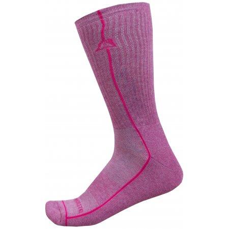 Ponožky ALPINE PRO BANFF 2 USCZ039 RŮŽOVÁ
