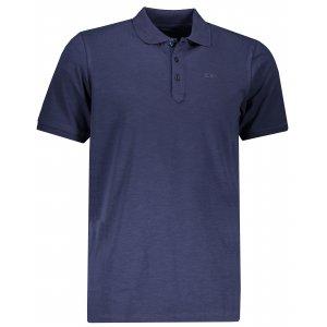 Pánské triko s límečkem ALPINE PRO SIMEON MTSP511 TMAVĚ MODRÁ