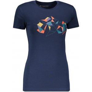 Dámské triko ALPINE PRO UNEGA 6 LTSP505 TMAVĚ MODRÁ