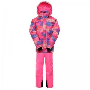 Dětský zimní set ALPINE PRO PIERO 4 KOTP020 RŮŽOVÁ