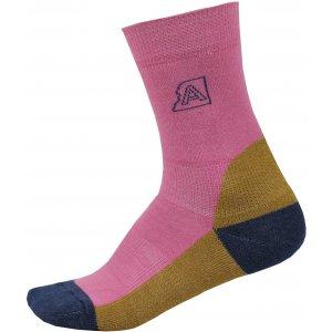 Ponožky ALPINE PRO ILSER USCP060 RŮŽOVÁ