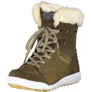 Dámské zimní boty ALPINE PRO NOORVIKA LBTP216 TMAVĚ ZELENÁ