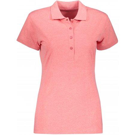 Dámské triko s límečkem ALPINE PRO ZENDAYA LTSP643 ČERVENÁ