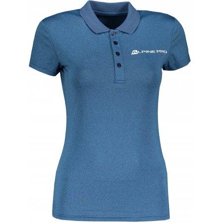 Dámské funkční triko s límečkem ALPINE PRO FRIDA LTSP636 MODRÁ