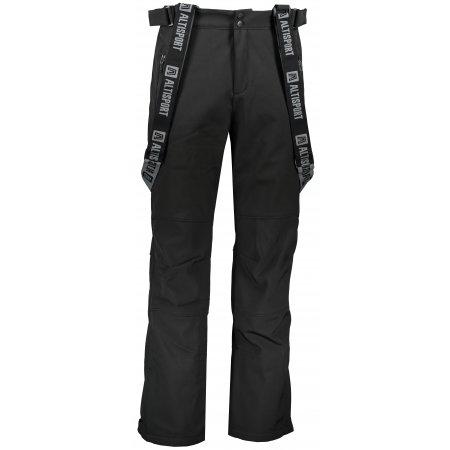 Pánské zimní softshellové kalhoty ALTISPORT MOEN ČERNÁ
