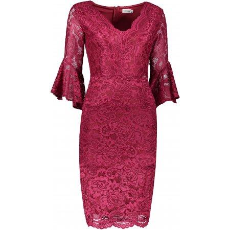 Dámské šaty NUMOCO A234-1 ČERVENÁ