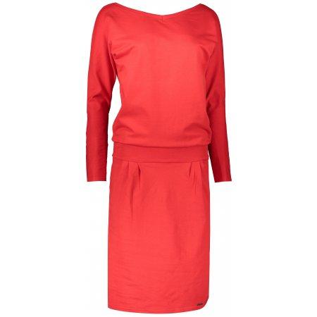 Dámské šaty NUMOCO A189-4 ČERVENÁ