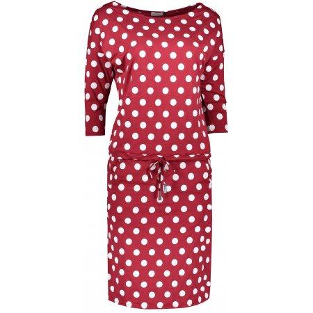 Dámské šaty NUMOCO A13-111 BÍLÉ PUNTÍKY