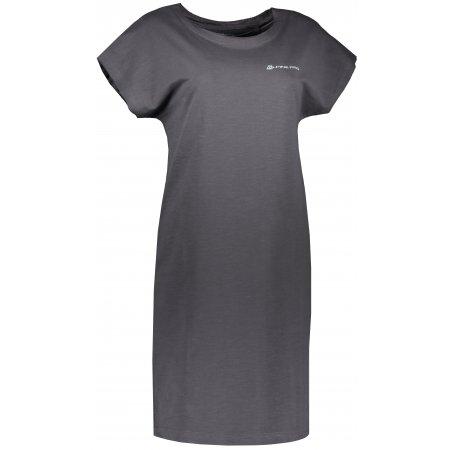 Dámské šaty ALPINE PRO TENA LSKR226 TMAVĚ ŠEDÁ
