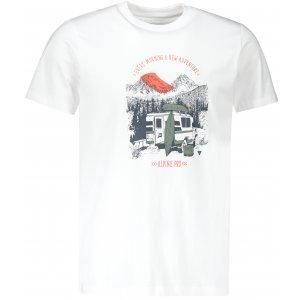 Pánské triko ALPINE PRO UNEG 8 MTSR458 BÍLÁ