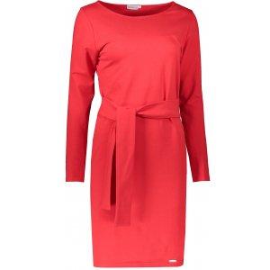Dámské šaty NUMOCO A209-6 ČERVENÁ