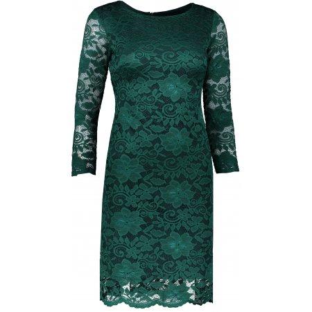 Dámské šaty s krajkou NUMOCO A180-2 ZELENÁ