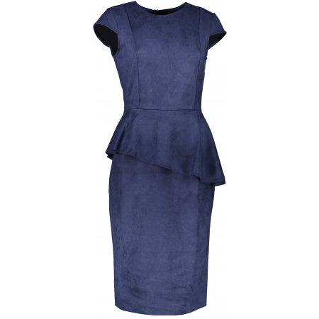 Dámské šaty NUMOCO MIDI A192-9 MODRÁ